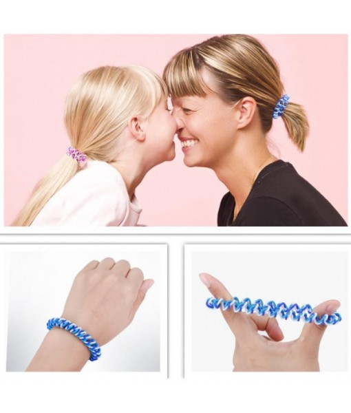 Plastic Hair Ties Spiral Ponytail Holder 5 Piece
