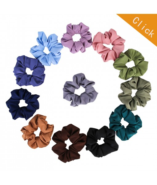 ONLY  US: Scrunchies for Hair Chiffon - 12 Pcs