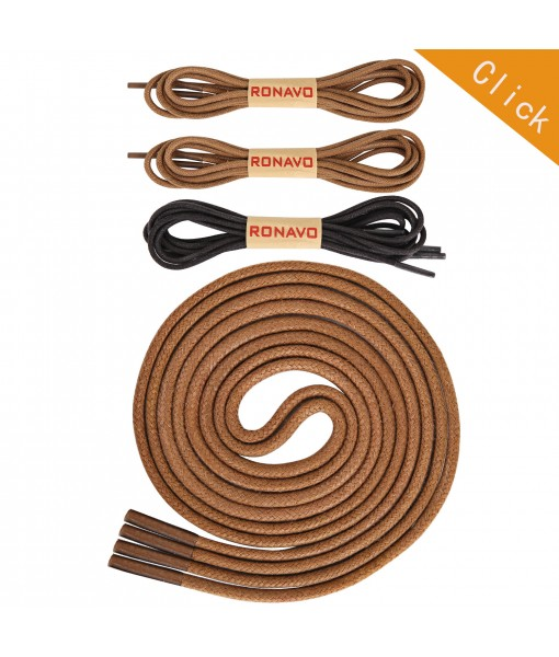 Round Waxed Shoelaces (3 pair)